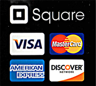 Pay with Discover or Visa Card!